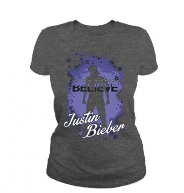 Женская футболка с принтом Джастин Бибер