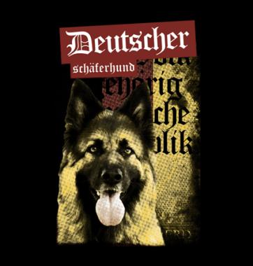 Футболка с принтом Немецкая овчарка