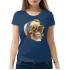 Женская футболка с принтом Череп подсолнух