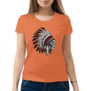 Женская футболка с принтом Череп Майа