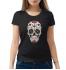 Женская футболка с принтом Черепы и розы