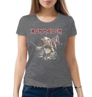 Женская футболка с принтом Айрон Мейден