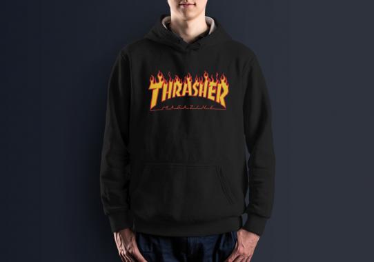 Худи с принтом Thrasher