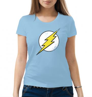 Женская футболка с принтом FlashMan