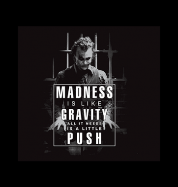 Футболка с принтом Madness gravity push