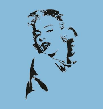 Женская Футболка с принтом Marilyn Monroe