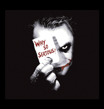 Футболка с принтом Why so sertous?