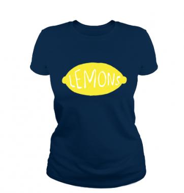 Женская футболка с принтом Lemons