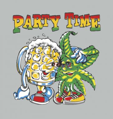Женская футболка с принтом Party time