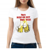 Женская футболка с принтом Two beer or not two beer