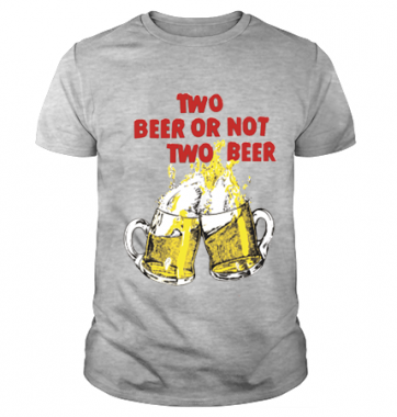 Футболка с принтом Two beer or not two beer