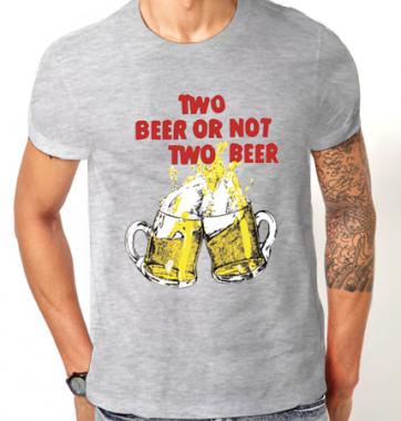 Футболка с принтом Two beer or not two beer