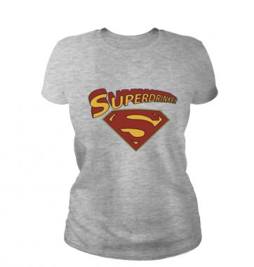 Женская футболка с принтом Superdrinker