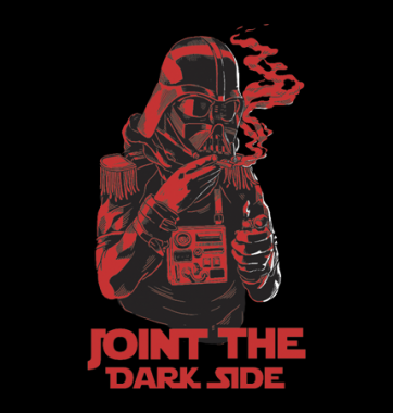 Футболка с принтом Joint the dark side