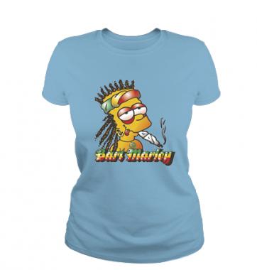 Женская футболка с принтом Bart Marley