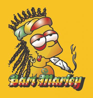 Футболка с принтом Bart Marley