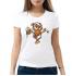 Женская футболка с принтом Овечка с сигаретой