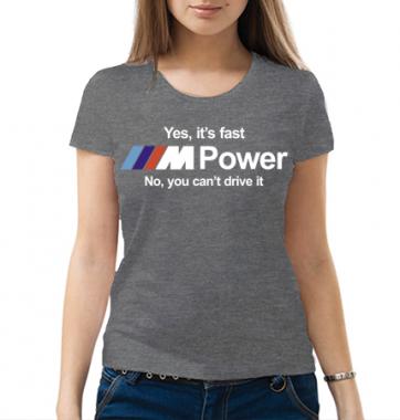 Женская футболка с принтом БМВ М
