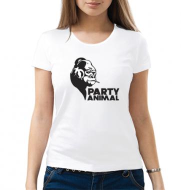 Женская футболка с принтом Party animal