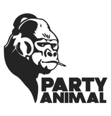 Футболка с принтом Party animal