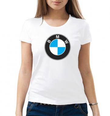 Женская футболка с принтом BMW