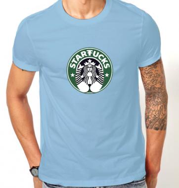 Футболка с принтом StarFucks