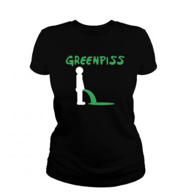 Женская футболка с принтом Greenpiss