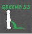 Футболка с принтом Greenpiss