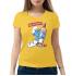 Женская футболка с принтом Smurfnoff