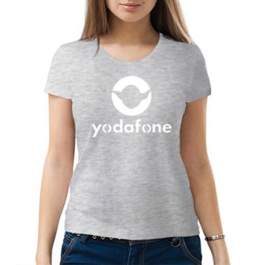 Женская Футболка с принтом Yodafone