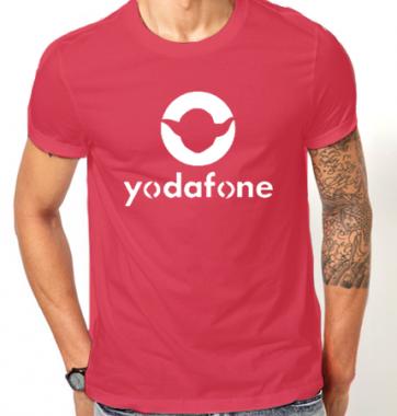 Футболка с принтом Yogafone