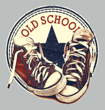 Женская футболка с принтом Old school