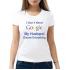 Женская футболка с принтом I don`t need my husband