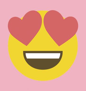 Женская Футболка с принтом Emoji Love