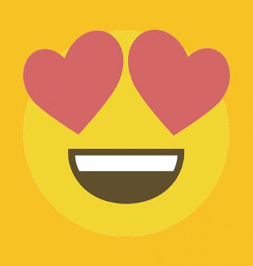 Футболка с принтом Emoji Love