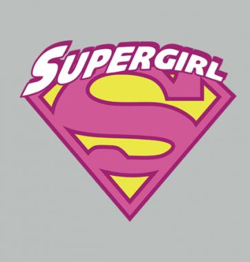 Женская футболка с принтом Supergirl