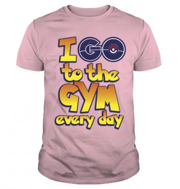 Футболка с принтом I go to the GYM every day