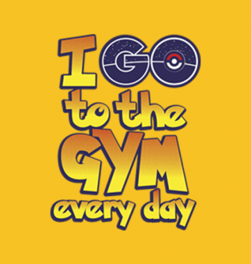 Футболка с принтом I go to the GYM every day