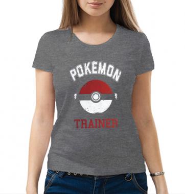 Женская футболка с принтом Pokemon Trainer