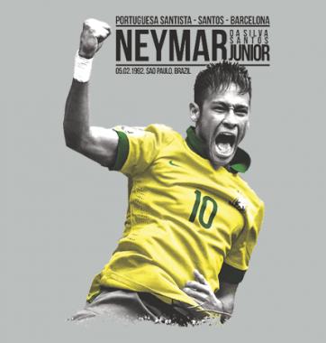 Футболка с принтом Neymar