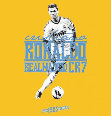 Футболка с принтом Ronaldo
