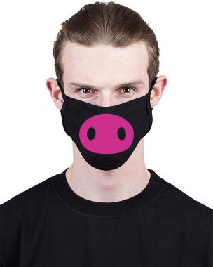 Маска c принтом Pig