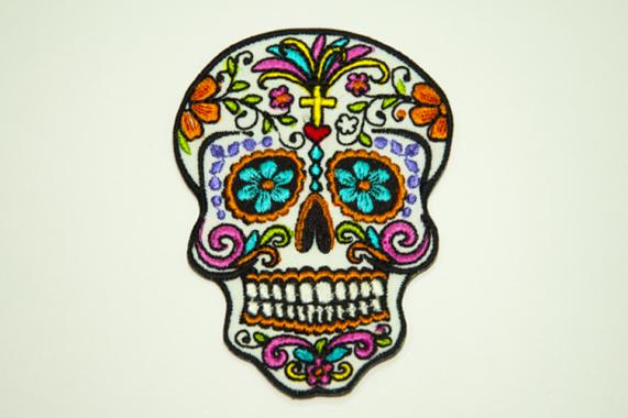 Нашивка Цветной череп