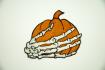 Нашивка Тыква со скелетом руки